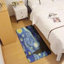 Новый коврик с масляной живописью Ван Гога, напольный коврик для кухни, туалета, ванной, ретро искусство, Подсолнух, звездная ночь, вход в при...