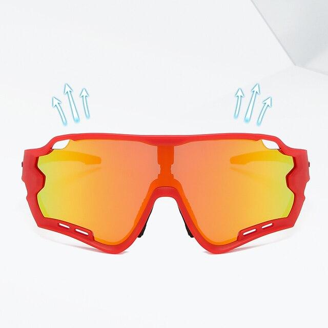Acexpnm espelho revestido polarizado ciclismo óculos de bicicleta esportes ao ar livre ciclismo óculos de sol para homens 2