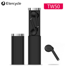 2019 New TWS 5.0 Bluetooth earphones wireless sport  noise cancelling In-ear Earphone Bass Stereo Bilateral Call with Charging anomoibuds capsule wireless bluetooth earphones tws earbuds auto pairing noise cancelling v5 0 stereo call sport earphone