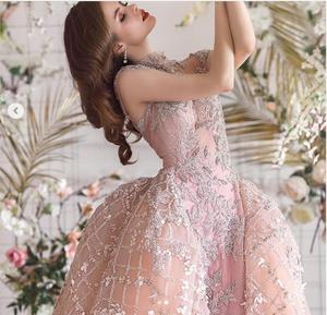 Image 2 - Robe De mariée Champagne, à fleurs 3D, style sirène, robe De mariée avec plumes détachables, avec perles détachables