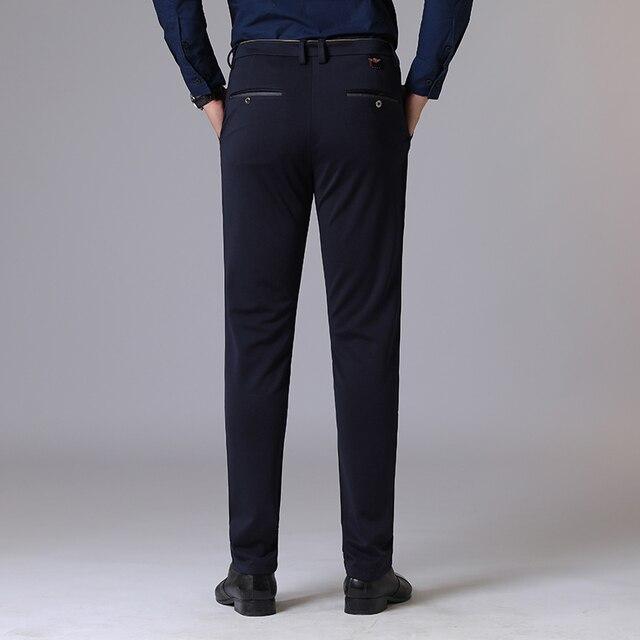 Autumn Long Pants Plus Size Streetwear Slim Men's Trousers Business Casual Elastic Hombre Male Fashion Straight 38 Brand MOOWNUC 3