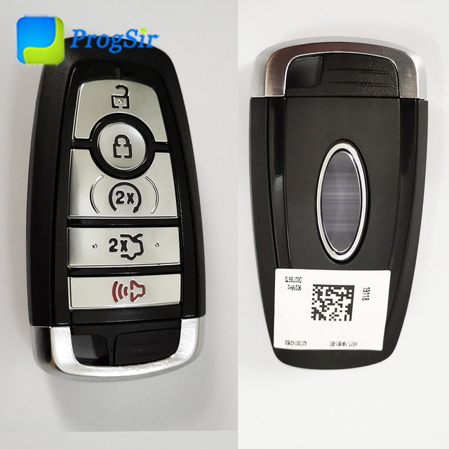 Genuine 902 MHZ 5 Button Smart Proximity Keyless Go Remote Control With Hitag Pro ID 49 Chip For Ford Fusion F150 2015+