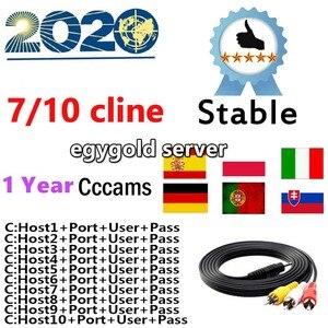 2020 egygold cccam cline Oscam Cline Germany europe Cccam clines 1 year Spain for v8 super gtmedia v8 nova Satellite TV Receiver(China)