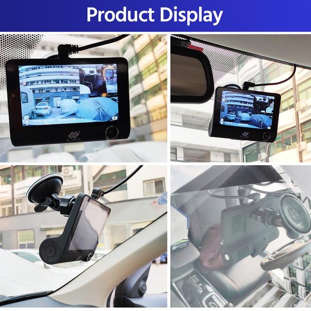 E-ACE B28 Car Dvr Dash Cam 4.0 Inch Video Recorder Auto Camera 3 Camera Lens With Rear View Camera Registrator Dashcam DVRs 4