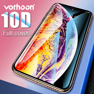 Image 1 - Vothoon Screen Protector Glass For iphone Xs Max XR 8 7 6s Plus 10D Full Cover edge Tempered Glass Protective