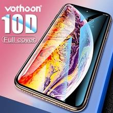 Vothoon ป้องกันหน้าจอแก้วสำหรับ iPhone XS MAX XR 8 7 6 S PLUS 10D เต็มขอบกระจกนิรภัยป้องกัน