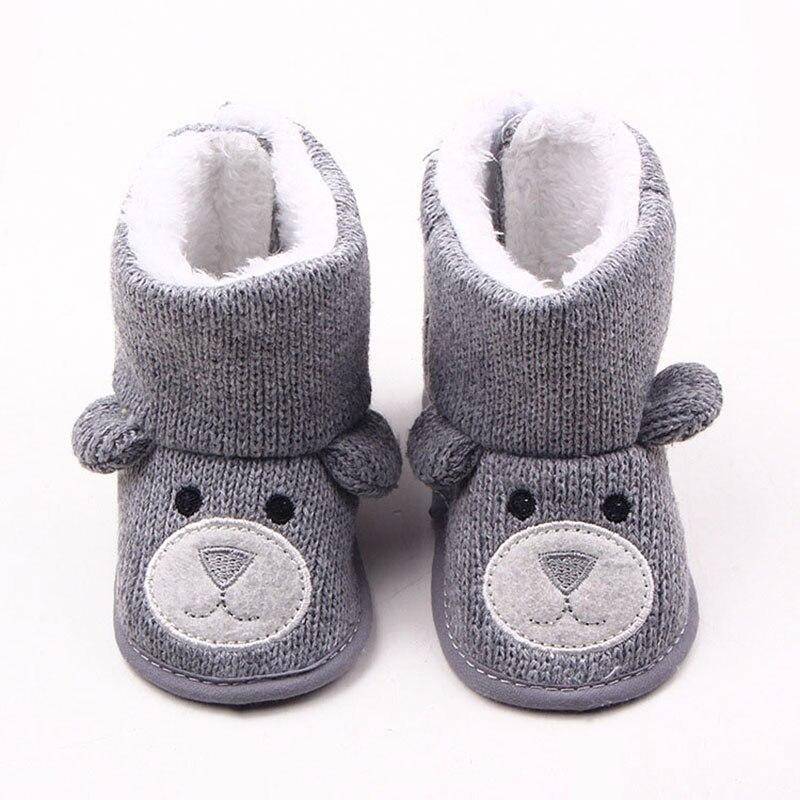 Thick Warm Baby Winter Booties Cartoon Animal Soft Cotton Anti Slip Newborn Toddler First Walker Snow Boots Baby Boy Girl Shoes