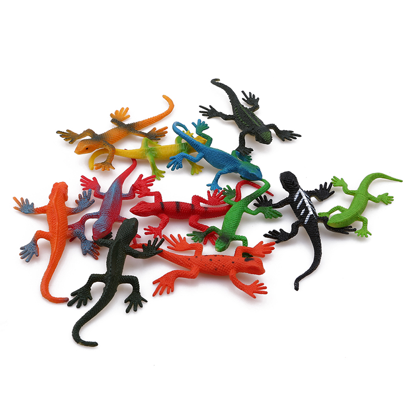 12pcs/set Wild Animal Dinosaur Farm Insects Simulation Small Animal Model Of Children's Toys Early Childhood Cognitive Suit