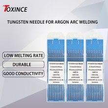 Tiges de soudage TIG professionnelles à tête bleue, Kit d'électrodes en tungstène 1.0 /1.6/2.0/2.4/4.0x3.2mm