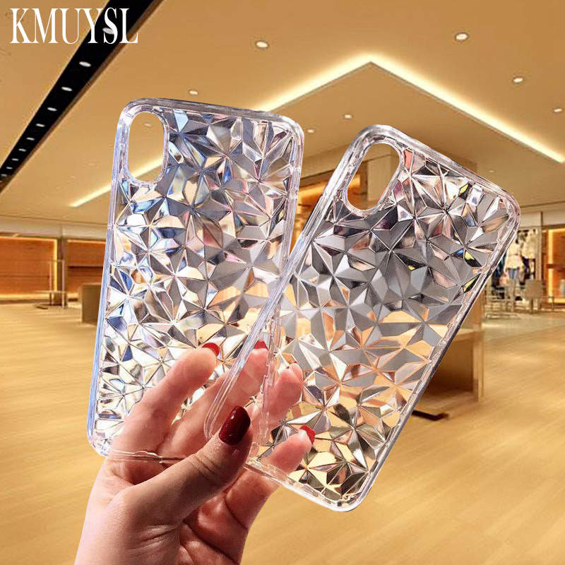 Clear <font><b>Case</b></font> For <font><b>Xiaomi</b></font> <font><b>Mi</b></font> A3 9 <font><b>8</b></font> SE <font><b>Lite</b></font> CC9 CC9E 9T Soft Cover For Redmi Note <font><b>8</b></font> Note 7 Note 6 K20 Pro 7A 3D Diamond <font><b>Case</b></font> image