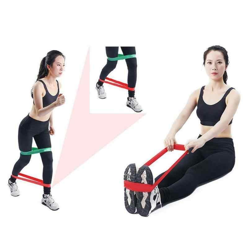6 sztuk Sport taśmy oporowe trening jogi lateksowe zespoły sprzęt Fitness na siłownię odporność na joga opaski gumowe Indoor Outdoor Fitness