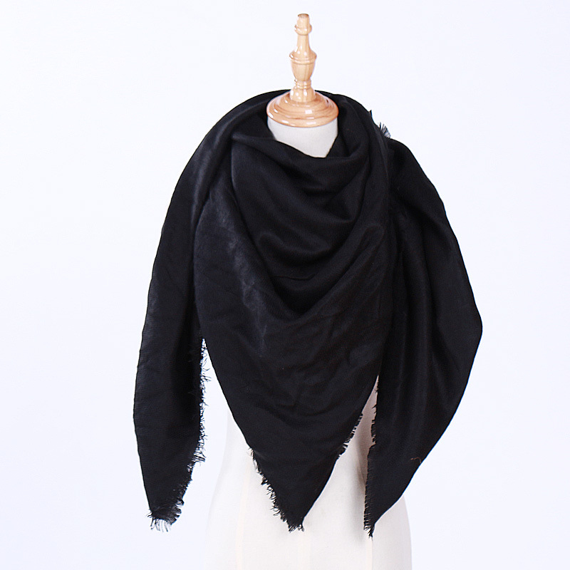 2019 New Fashion Winter Warm Triangle Scarf For Women Pashmina Shawl Cashmere Plaid Scarves Blanket Shawls Scarf Female Designer