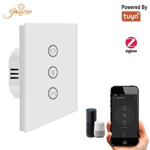 Tuya Zigbee занавес переключатель для рольставни Электрический двигатель Google Home Alexa эхо Голосовое управление DIY умный дом мощность от Tuya