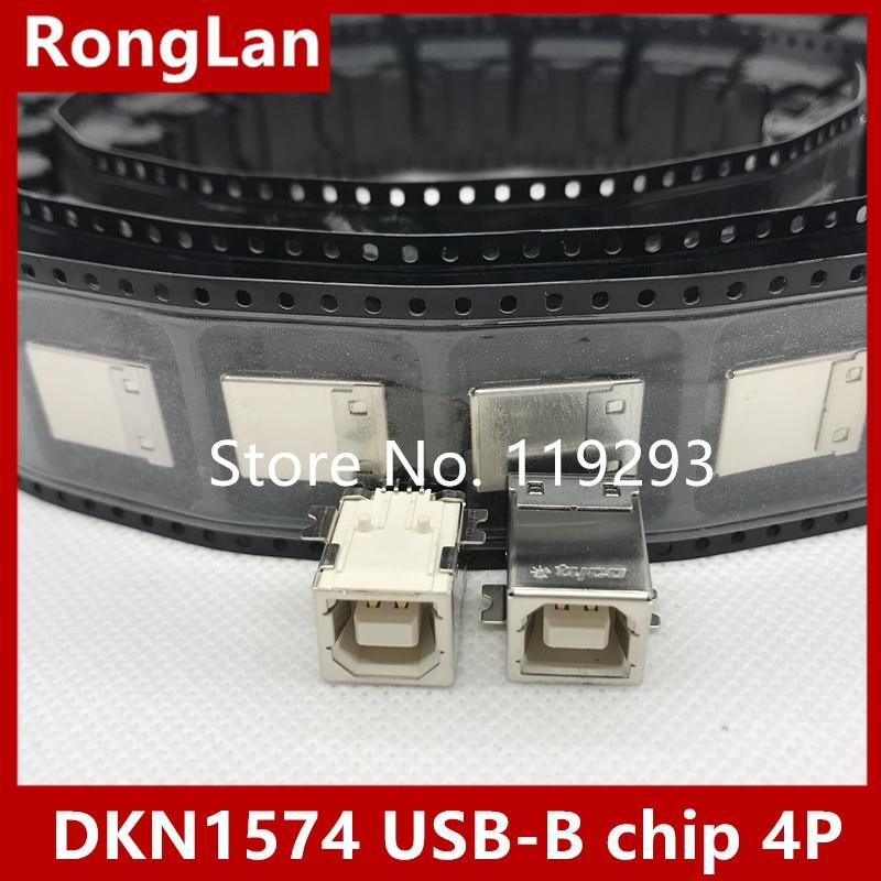 [BELLA]The Original DKN1574 USB-B Chip 4P USB Socket Nut Seat--50PCS/LOT