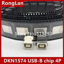 [BELLA]The original DKN1574 USB-B chip 4P USB socket nut seat--50PCS/LOT