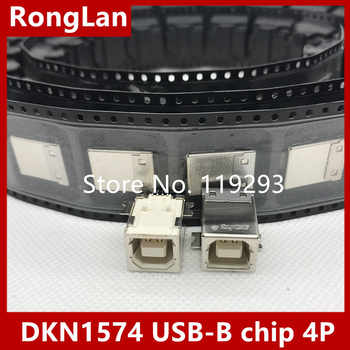 [BELLA]The original DKN1574 USB-B chip 4P USB socket nut seat--50PCS/LOT - DISCOUNT ITEM  19 OFF Electronic Components & Supplies