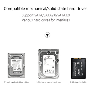 """Image 5 - SATA to USB C Adapter SATA Cable for 2.5"""" and 3.5"""" External SSD HDD Hard Disk Drive Converter Case"""