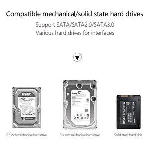 """Image 5 - SATA ל usb C מתאם SATA כבל עבור 2.5 """"ו 3.5"""" החיצוני SSD דיסק קשיח כונן ממיר מקרה"""