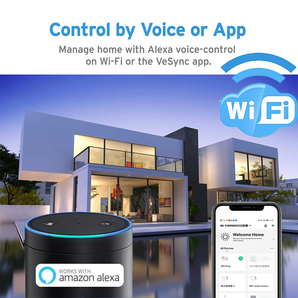 NEO Coolcam inteligentna wtyczka WiFi gniazdo 3680W 16A monitorowanie energii przełącznik czasowy ue wylot sterowanie głosem przez Alexa Google IFTTT