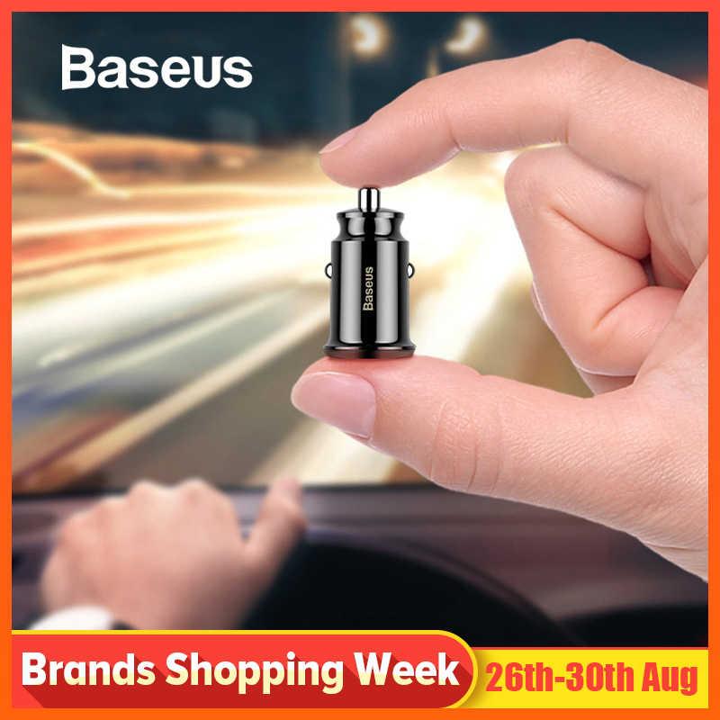 Baseus Mini USB Carregador de Carro Para O Telefone Móvel Tablet GPS 3.1A Rápido Carregador de Carro-Carregador Dual USB Telefone Do Carro adaptador de carregador no Carro