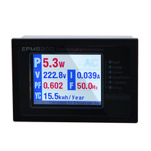 ZHURUI EPM8200 LCD TFT digital single phase AC energy calculator meter /power monitor/watt meter/ 1000w /4A/220v