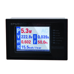 ZHURUI EPM8200 LCD TFT digital single phase AC energy calculator meter /power monitor/watt meter/ 1000w /4A/220v