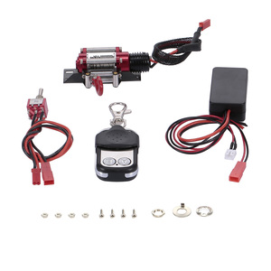 1/10 RC Rock Crawler Steel Wired Automatic Crawler Winch Control System Wireless Remote Receiver for Traxxas TAMIYA Axial SCX10