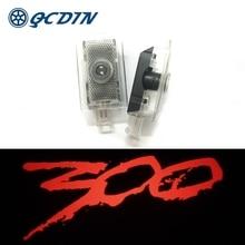 QCDIN สำหรับ Chrysler 300 LED โลโก้ประตูรถ HD โปรเจคเตอร์โลโก้ไฟสำหรับ Chrysler 300 200 Sebring Lancia Thema