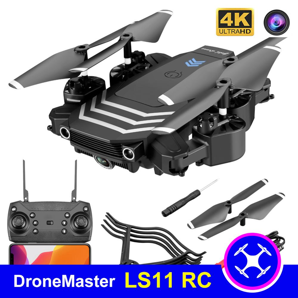 DroneMaster Mini LS11 RC Drone With 4K dual camera FPV Wifi Drones Professional Quadcopter Hold Mode Dual Cameras Boy Toys