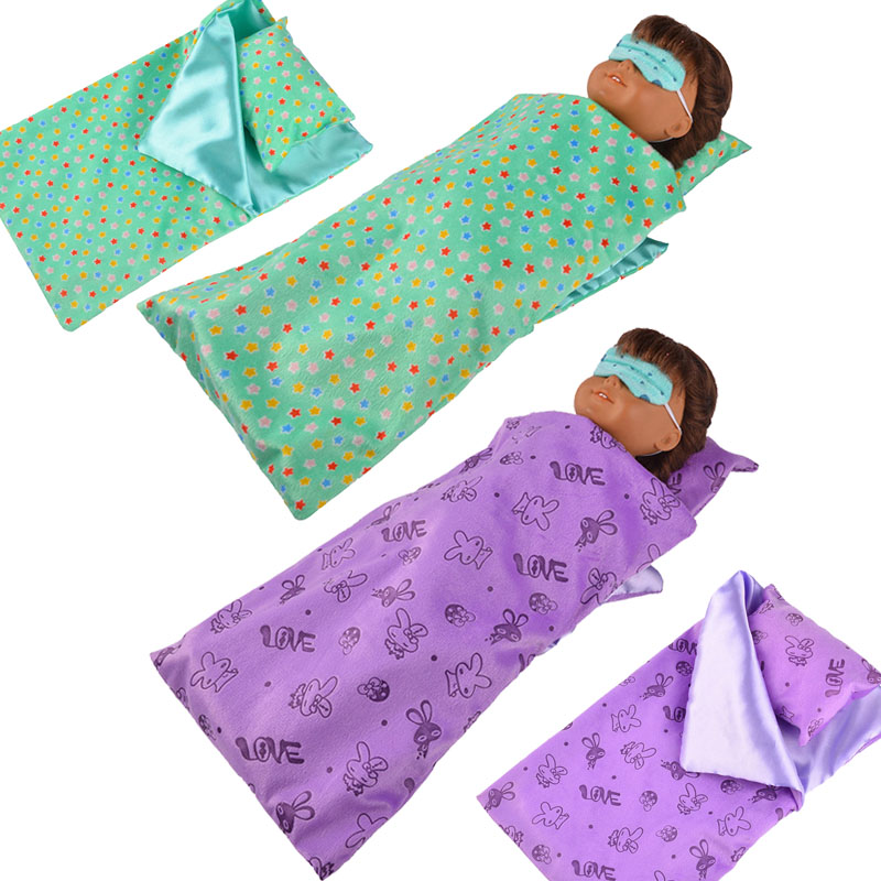 New Colorful Sleeping Bags&Pajamas Fit 18 Inch American&43Cm Born Baby Doll Clothes Accessories Generation Christmas Girl'sGifts