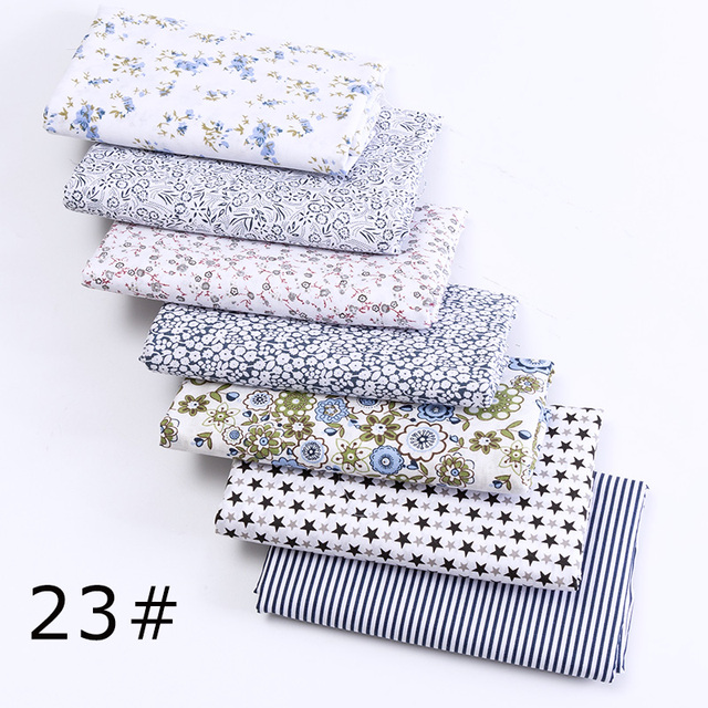 7 pcs 24x25cm/pack printed cotton fabric quilting fabric sewing material for DIY handbag patchwork fabric T7866-1