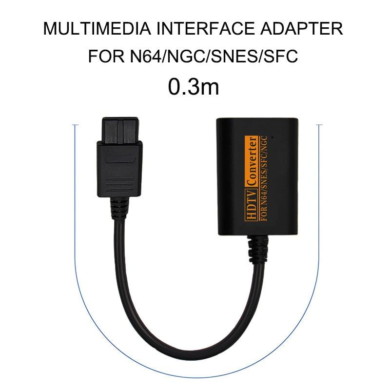 Cabo hd do conversor do adaptador de hdmi para nintendo n64/snes/ngc/sfc ao console conveniente do divisor gamecube do cabo video de scart de hdtv