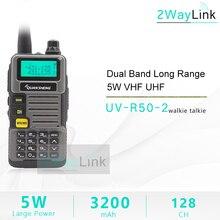 QuanSheng Walkie Talkie UV R50 2 UHF VHF 5W Two way Radio 3200mAh Portable Quansheng UV R50 2 Ham Radio TG UVR50