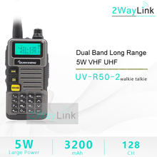 QuanSheng talkie walkie UV R50 2 UHF VHF 5W Radio bidirectionnelle 3200mAh Portable Quansheng UV R50 2 Radio TG UVR50