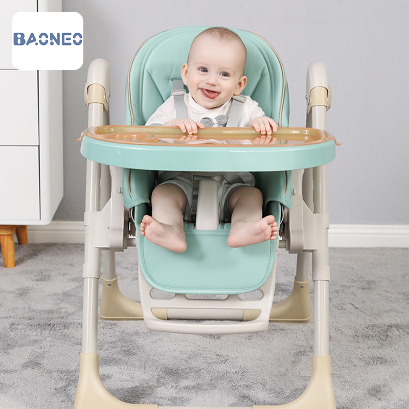 Baby Shining Kids Highchair Feeding Dining Chair Double Tables Macaron Multi-function Height-adjust Portable kids dining table
