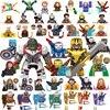 Kids Toys Marvel Iron Man Mecha Figures Building Blocks Hulk Thanos Spider Man Bricks Mini Dolls Toys For Boys Christmas Gifts