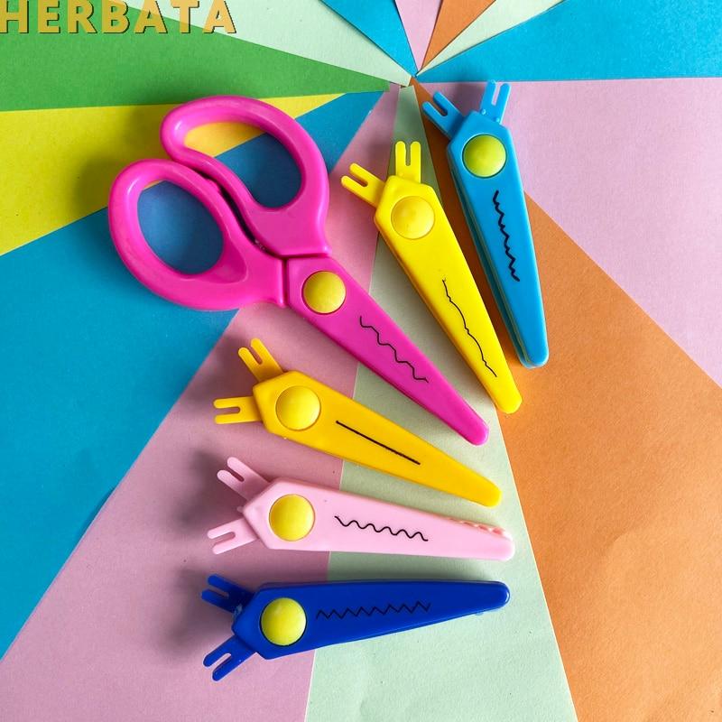 Free Shipping DIY Cute Kawaii Plastic LacebScissors For Paper Cutter Scrapbooking Kids Office School Supplies Korean Stationery