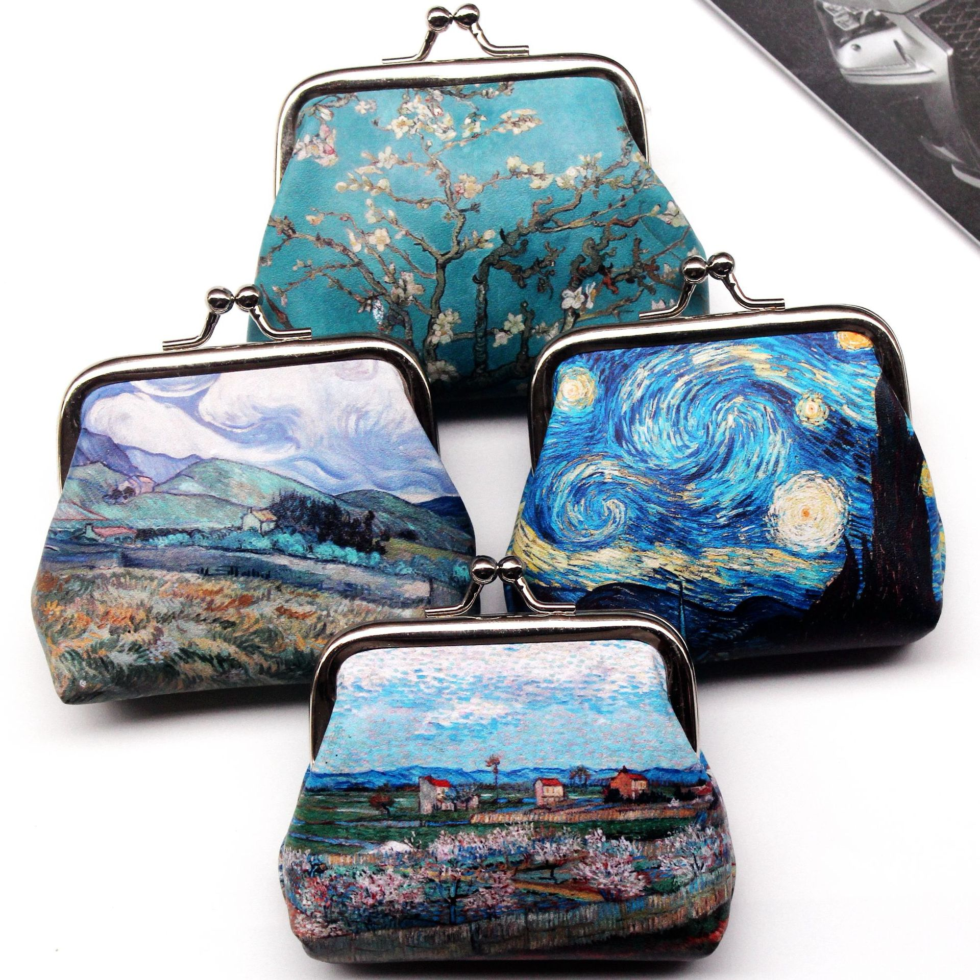 Vintage Coin Purse Wallet Women Famous Oil Painting Small Wallet Hasp Creative Clutch Bag Good Gift Women's Mini Purses