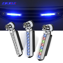 Decorative-Lamp-Strip Running-Lights Daylight Auto Car Fan Power-Supply Daytime Wind-Powered