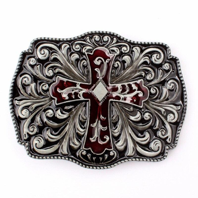 Cross pattern belt Buckle Homemade handmade waistband Components