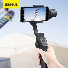 Baseus 3 axis handheld cardan estabilizador bluetooth selfie vara câmera estabilizador de vídeo suporte para iphone samsung câmera de ação
