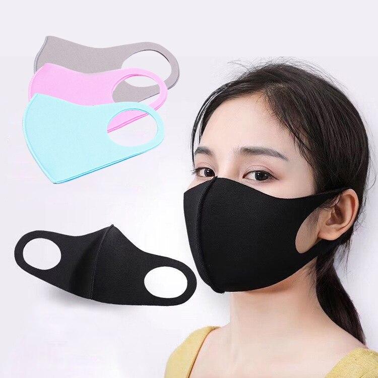 2PCS Anti Dust Flu Face Mask Kids Adult PM2.5 Particles Haze Cotton Mask Washable Reusable Anti Pathogen Anti-Sunburn Mask