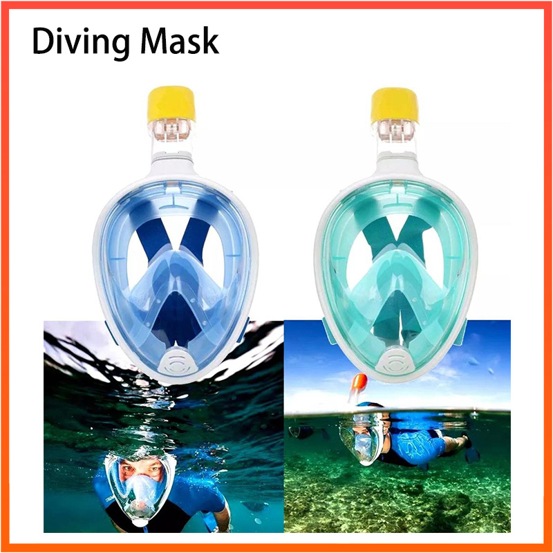 Diving Mask Full Face Anti-fog Snorkeling Mask Underwater Scuba Spearfishing Mask Children Adult Glasses Training Dive Equipment