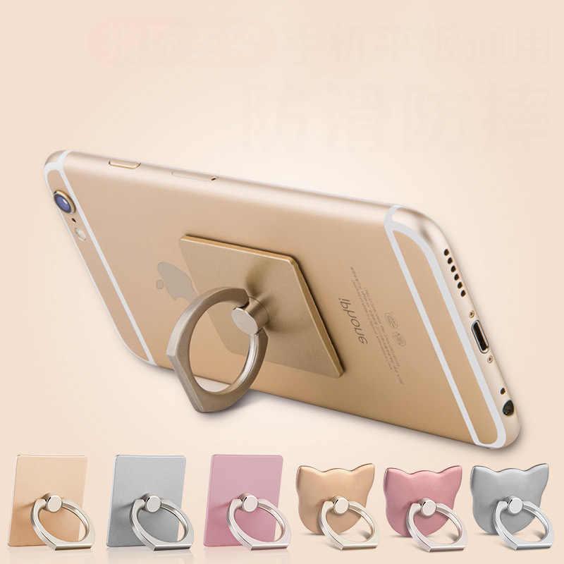 Anneau de doigt téléphone portable Smartphone support pour IPhone X 8 7 6 6S Plus 5S téléphone intelligent IPAD MP3 support de voiture pour Samsung