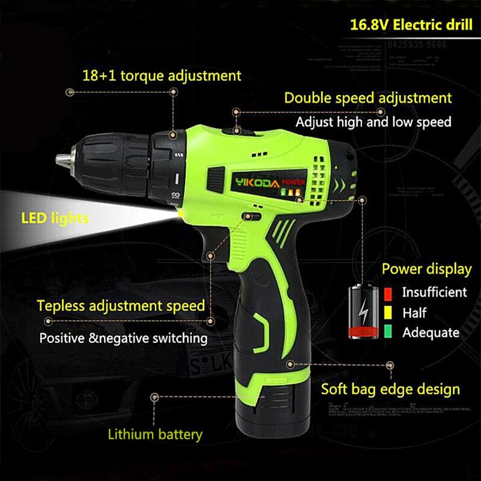 16.8V Huishoudelijke hand-accuboormachine Dubbele snelheid - Elektrisch gereedschap - Foto 2