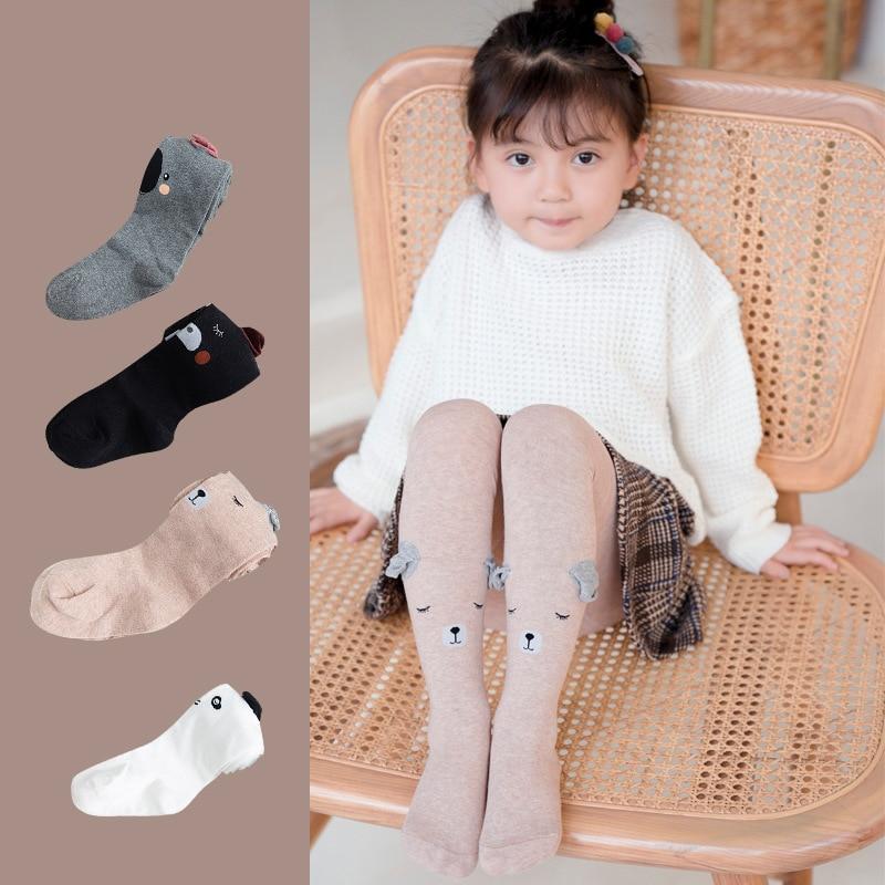 Baby Girls Pantyhose Toddler Kids Children Cartoon Cotton Warm Tights Stockings~
