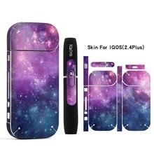 Galaxy наклейка печать кожи для IQOS наклейка 2,4 Plus 2,4 p электронная сигарета обложка чехол