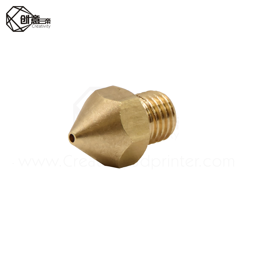 Creativity 3D Printer Nozzle 3pcs Hardened Steel Nozzles 0.4mm for 1.75mm Filament for ender3//CR10//CR10S Pro 3D Printer Hotend Extruder 3pcs 0.4mm