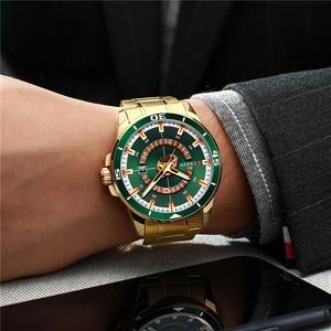 Image 3 - CURREN Sport Men Watch Top Brand Luxury Gold Military Business Waterproof Male Clock Stainless Steel Quartz Man Wristwatch 8359