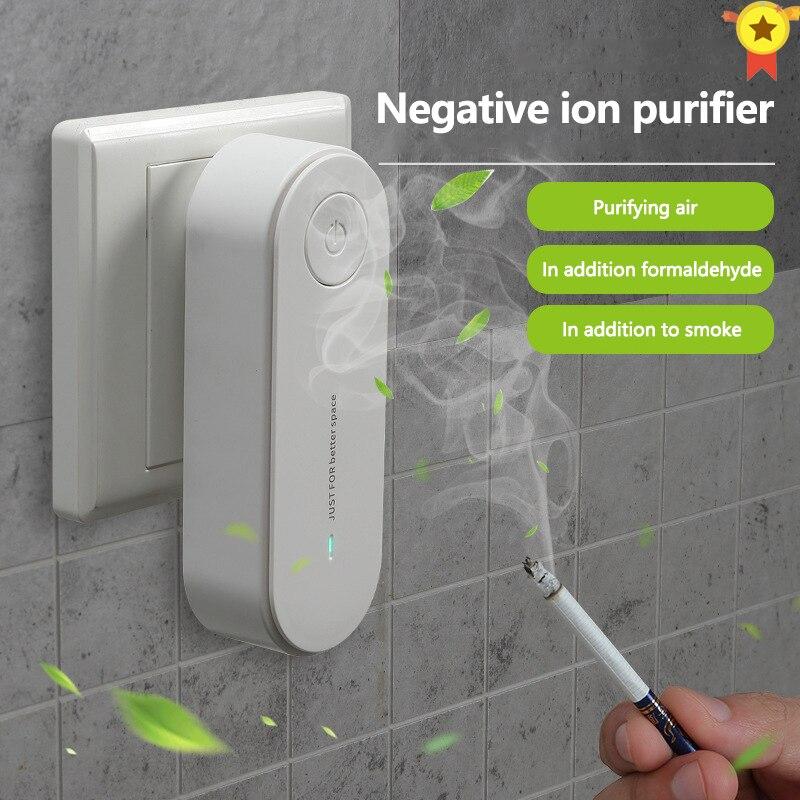 Purificador de ar portátil anion purificação de ar xiomi purificador de ar ionizador mais limpo poeira cigarro removedor de fumaça toalete desodorante